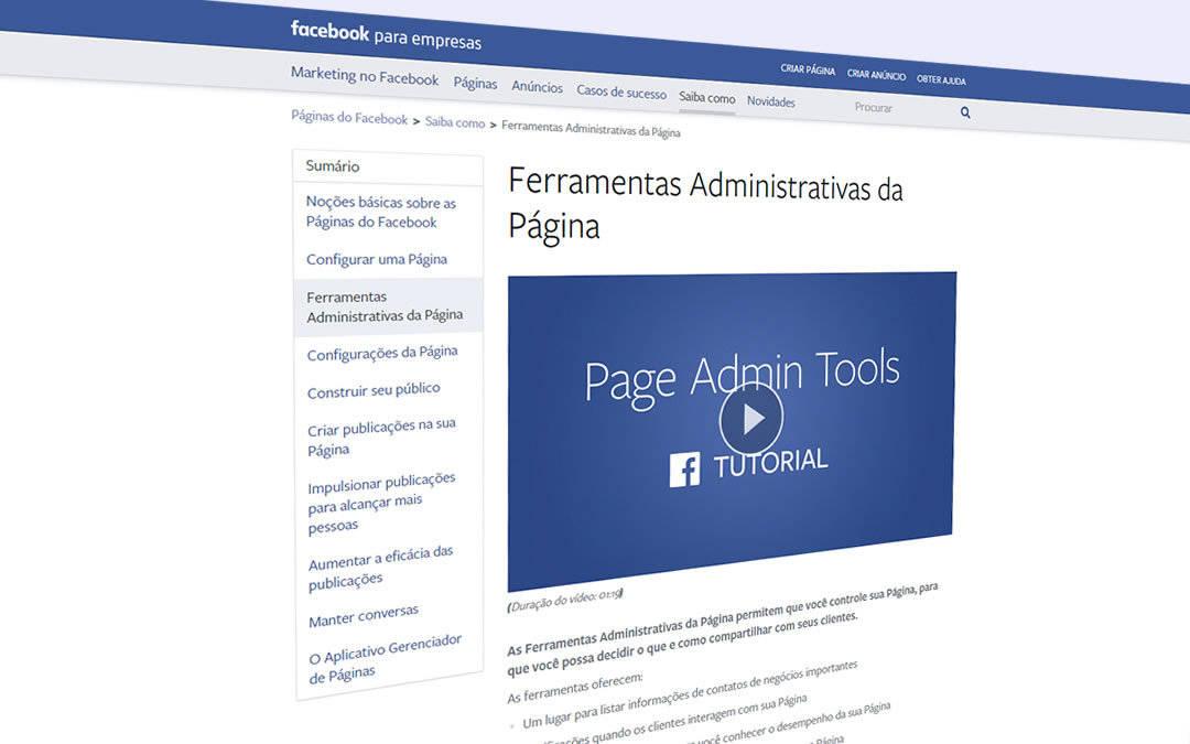 Conhecendo as ferramentas para administradores no Facebook