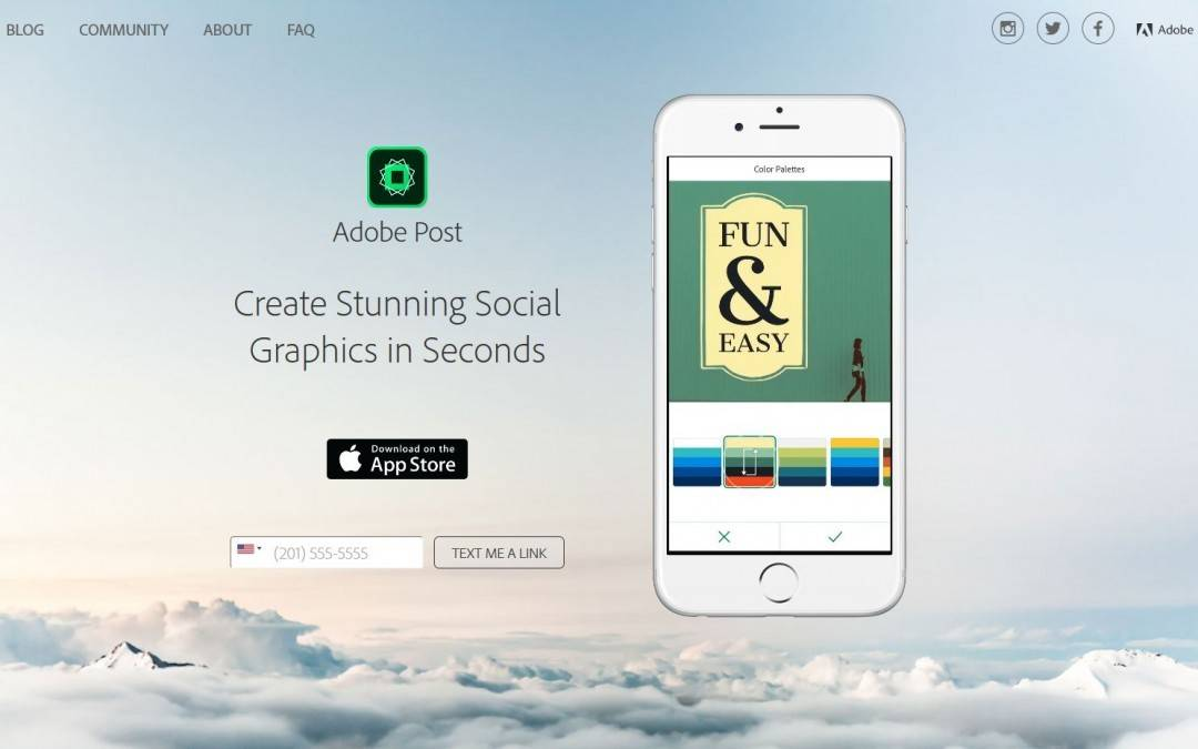 Use o Adobe Post para criar imagens para suas redes sociais