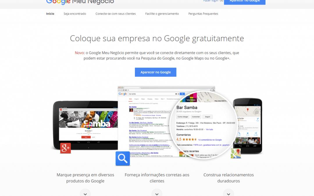 Cadastre seu site no Google Meu Negócio
