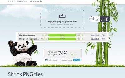 Imagens PNG mais leves = site mais rápido!