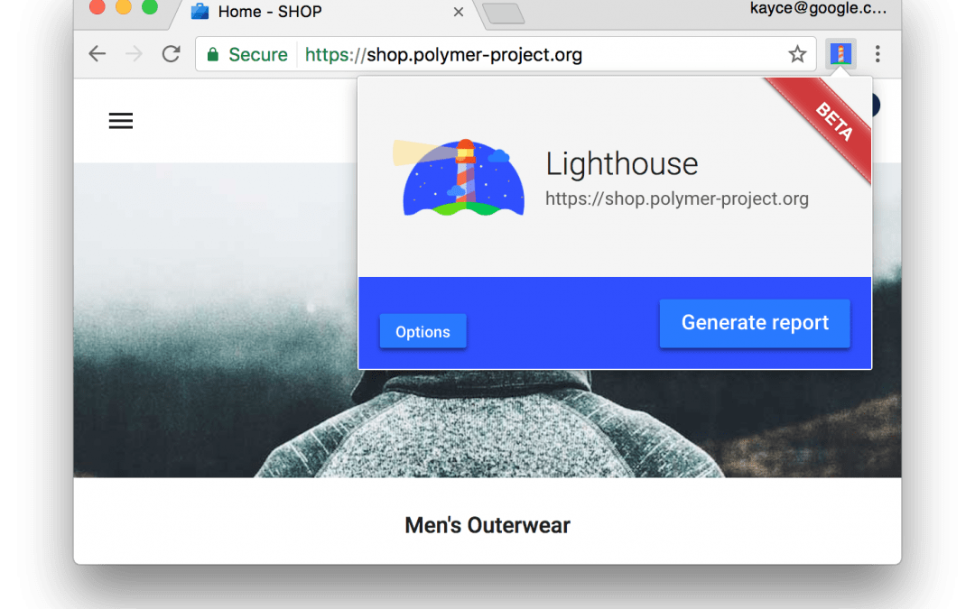 Auditar apps da Web com o Lighthouse