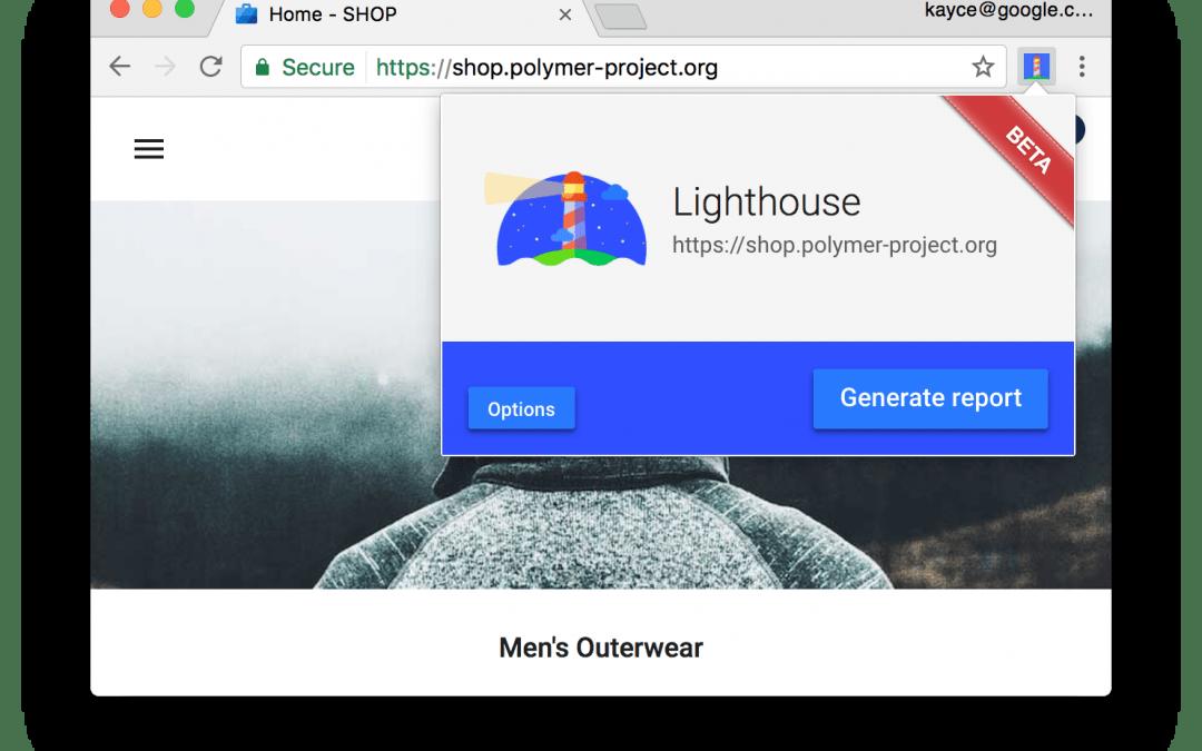 Analisar apps da Web com o Lighthouse