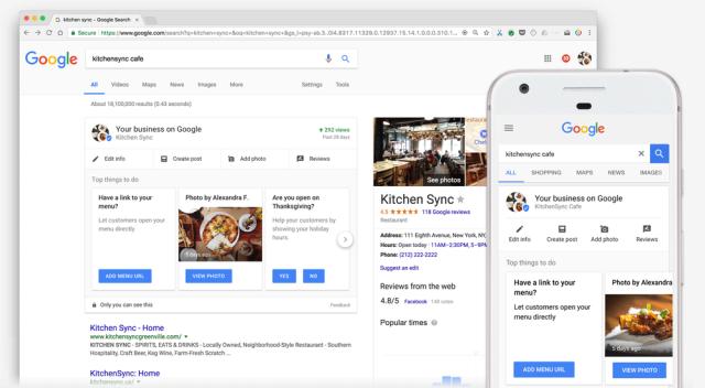 editar Google Meu Negócio nos resultados da busca