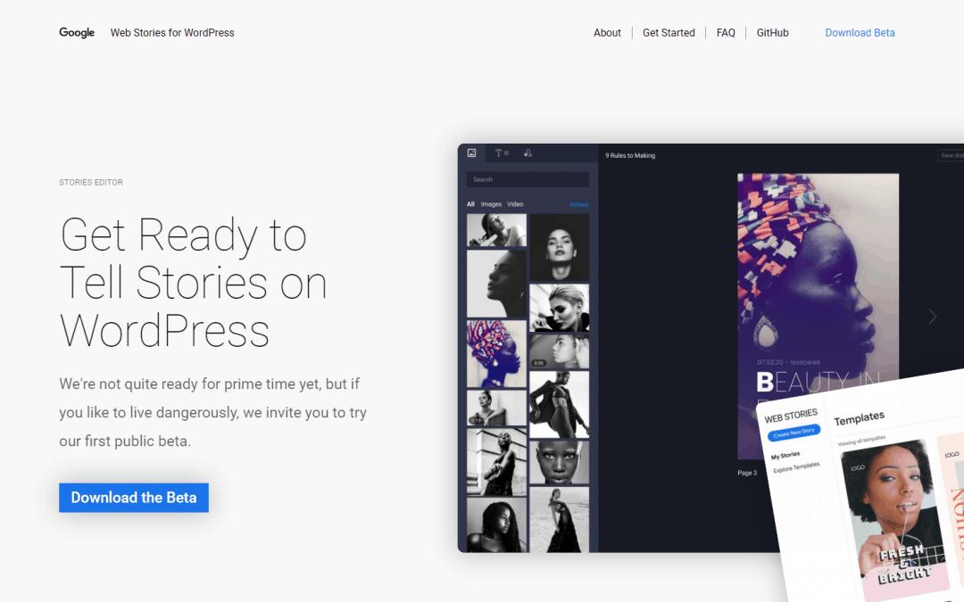 Google lança versão beta do plug-in de histórias da Web para AMP para WordPress